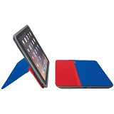 LOGITECH AnyAngle Protective Case for Apple iPad Mini [939-001160] - Blue Red - Casing Tablet / Case